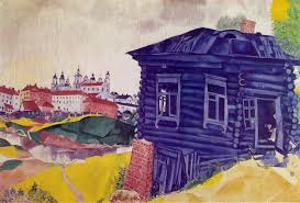 the blue house 1917 marc chagall