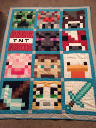 The 40 best images about Mine craft Quilt on Pinterest   Quilt ... & Minecraft quilt made for my grandson Adamdwight.com