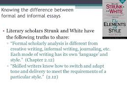 formal and informal writing ppt video online  knowing the difference between formal and informal essays