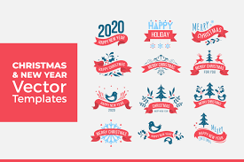 Christmas And New Year Vector Templates Graphic By Dendysign Creative Fabrica