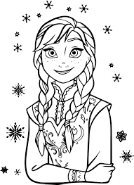 Small Picture Frozen Anna Coloring Page In Pages At glumme