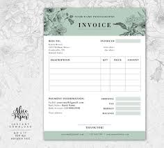 Invoice Template For Photographers Invoice Template Photography Invoice Receipt Template For Photographers Business Invoice Photography Forms Photoshop Template Psd File
