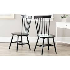 black wood dining chair. Safavieh Riley Black Wood Dining Chair (Set Of 2) L