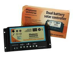 100w 12v dual battery solar charging kit 100 watt panel camper photonic universe dual battery solar charge controller