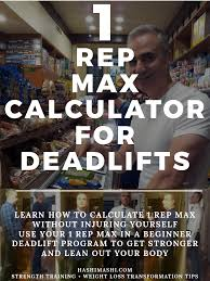 Deadlift Max Chart 1 Rep Max Calculator Deadlift Squat Bench Press In 5