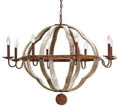 redford rustic lodge wood 8 light quatrefoil chandelier