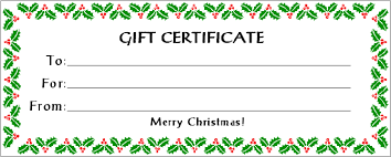 christmas certificates templates free christmas gift certificate templates fair certificates