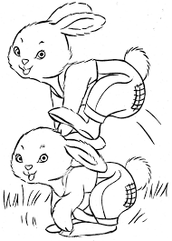 Easter Bunny Coloring Pages Easter Bunny