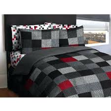 quilts black twin quilt new geometric pattern bed in a bag bedding comforter set gray