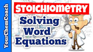 how to write stoichiometry word problems