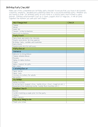 Free Birthday Party Planning Checklist Templates At