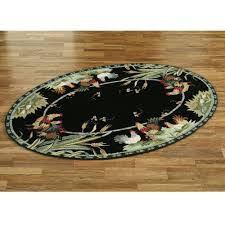 black rooster kitchen rugs area some designs of image rustic decorative items leather rug western wildlife lodge cowhide cabin