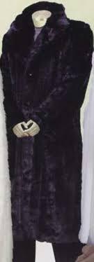 sku we622 men s long length faux fur coat black