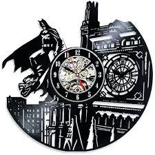 wall clock wall clock london batman and led record cartoon theme vinyl handmade black hollow home