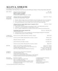 Resume Templates Word Mac Extraordinary Athletic Resume Template Intended For Student Athlete Athletic