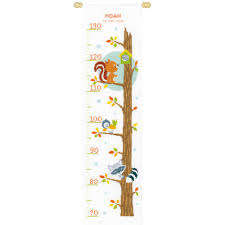 Cross Stitch Height Chart Kit Vervaco Animals In Tree Counted Cross Stitch Height Chart Kit