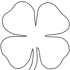 Small Picture 4 Leaf Clover Coloring Page Corresponsablesco