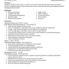 Electrical Apprentice Resume Bestresume Com