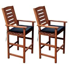 outdoor bar height chairs. miramar 5pc square wood patio bar height dining set - cinnamon brown/black corliving outdoor chairs o