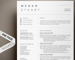 1 Page Resume Awesome Resume Template Professional Resume 44 Page Resume Modern Etsy