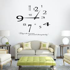 Small Picture Removable Modern design Clock Wall Sticker Home Decoration wall