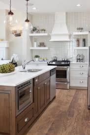 stained kitchen island