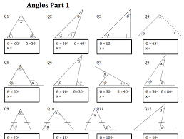 Worksheets On Angles and Triangles | Homeshealth.info