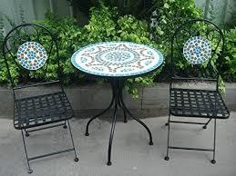 mosaic bistro table set mosaic bistro table set for inspiring 3 piece metal garden bistro set mosaic bistro table set