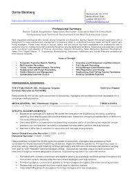 Talent Acquisition Specialist Sample Resume
