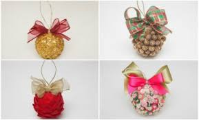 Decorated Styrofoam Balls Homemade Christmas tree ornaments 100 easy DIY ideas 48