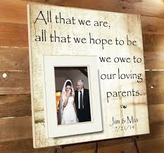 best 25 thank you gift for parents ideas on pinterest wedding Wedding Gifts For Parents Frames personalized picture frame, parents thank you gift, parents of the groom gift, wedding wedding gift for parents picture frame