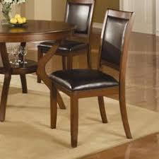 coaster nelms side chair set of this cal dining group is made from select hardwoods and veneers and finished in a brown walnut color