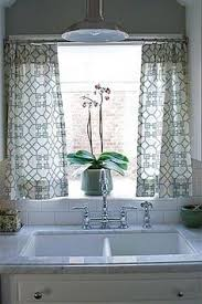 sink windows window love: no sew kitchen window treatment get some fabric iron on quotheatnbond hemquot adhesive get a super cheap curtain rod from target and add some rings with clips