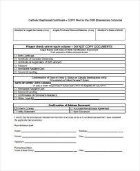 21 Sample Baptism Certificate Templates Free Sample Example