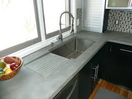 concrete kitchen sink modern with coter integral drainboard molds uk