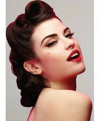 Pin Ups Hair Style 50s Hairstyles For Long Hair Pin Up Hairstyles And Colors 8884 by wearticles.com