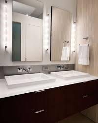 view in gallery clean and minimal vanity design lit up in a stunning fashion