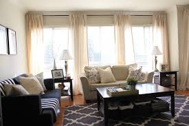 curtains for 3 windows together | ... have four panels hanging along the row