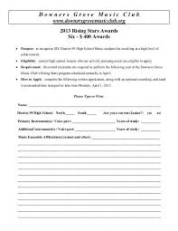 2013 Application Form Downers Grove Music Club