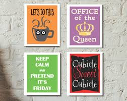 Office art, Cubicle art, Keep Calm, Cubicle Sweet Cubicle, Office Decor,