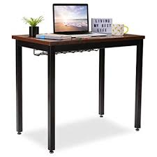 desk tables home office.  Tables Small Computer Desk For Home Office  36u201d Length Table WCable Organizer In Tables Amazoncom