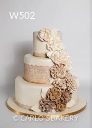 Carlos Bakery Floral Wedding Cake Designs