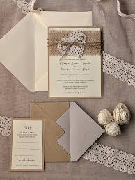 Burlap And Lace Wedding Invitations Rustic Wedding Invitation Kits Theoceanbox Com