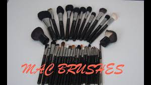 mac makeup brushes collection review favourites uses