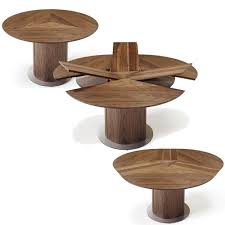 Modern Expandable Round Dining Table Danish Modern Dining From Skovby Of Denmark