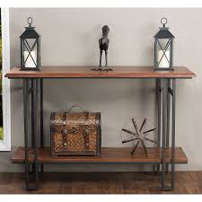 metal console table. amazon.com: baxton studio newcastle wood and metal console table, brown: kitchen \u0026 dining table