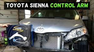 Toyota Sienna Front Control Arm Replacement Removal - YouTube