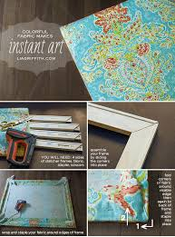 make easy diy art with a canvas stretcher frame and pretty fabric lia griffith