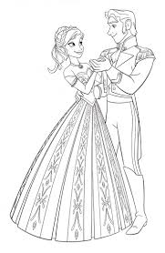Walt Disney Coloring Pages Princess Anna