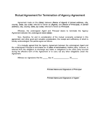 mutual termination of agency agreement legal forms and business picture of mutual termination of agency agreement